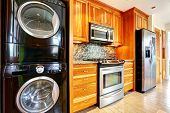 Постер, плакат: Kitchen Room With Laundry Appliances