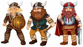 foto of viking  - Illustration of many male vikings with weapons - JPG