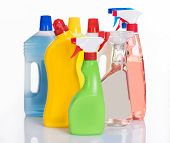 picture of detergent  - Bottles with cleaning detergents - JPG