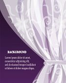 pic of lace-curtain  - white tulle curtain with a pattern on a violet dark background - JPG