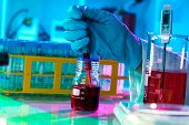 stock photo of histology  - researchers work in modern scientific lab - JPG