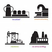 image of ferrous metal  - Set Industrial plant ferrous metallurgy - JPG