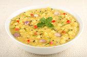 image of tadka  - Dal or dhal popular north indian lentils dish - JPG
