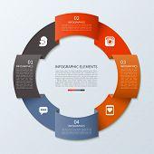 stock photo of step-up  - Modern minimal infographics circle - JPG