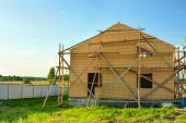 picture of home addition  - the image house construction from bricks exterior - JPG