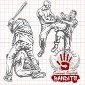 stock photo of revolt  - Bandits and hooligans  - JPG