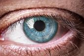 picture of single man  - Eye macro - JPG