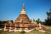image of nu  - old beautiful Burmese pagoda in Inwa Myanmar - JPG