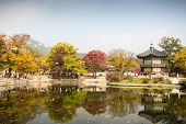 pic of seoul south korea  - Gyeongbokgung Palace and its grounds on a fine autumn day in Seoul, South Korea.