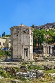 picture of octagon  - The Tower of the Winds is an octagonal Pentelic marble clocktower on the agora in Athens - JPG