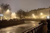 image of sankt-peterburg  - Lion pedestrian bridge above Griboedov channel in Sankt - JPG