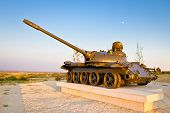 picture of panzer  - Military tank outdoor installation view Zadar Croatia - JPG