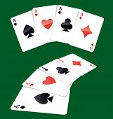 picture of ace spades  - Four aces play cards - JPG