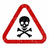 image of dangerous  - Danger skull icon isolated on white background - JPG