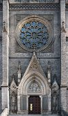 foto of gothic  - Gothic facade of the main Prague basilica  - JPG