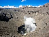 foto of bromo  - View at Mount Bromo at Java in Indonesia - JPG