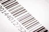 picture of barcode  - Black and white barcode - JPG