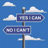 stock photo of yes  - vector illustration of yes i can and no i can - JPG
