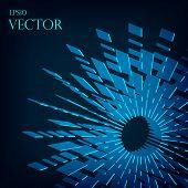 image of divergent  - Abstract divergent 3d  stripes blast background  vector illustration eps10 - JPG