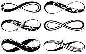 pic of infinity symbol  - Popular infinity symbols tattoo set - JPG