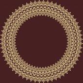 stock photo of damask  - Oriental  pattern with damask - JPG