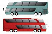 picture of motor-bus  - Double decker tourist bus design with double axle in front and rear - JPG