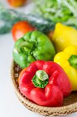 stock photo of yellow-pepper  - Colored paprika  - JPG