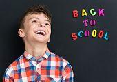 stock photo of schoolboys  - Back to school concept - JPG