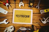 foto of yes  - The word yes you can - JPG