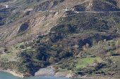 stock photo of algeria  - small mountainside with water - JPG