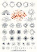 pic of starburst  - 40 Starbursts collection for vintage retro logos - JPG