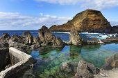 foto of volcanic  - Swimming natural pools of volcanic lava in Porto Moniz - JPG