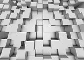 image of three-dimensional-shape  - Illustration of abstract mosaic three - JPG