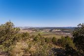 picture of crimea  - Nice view of the lake and the mountain village of Gasfort morning - JPG