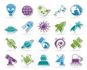 foto of astronomy  - astronomy and space icons   - JPG