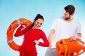 foto of lifeguard  - Accident prevention and water rescue - JPG