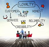 foto of loyalty  - Loyalty Customer Service Trust Honest Reliability Concept - JPG