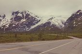 picture of backwoods  - highway on Alaska - JPG