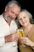 Mature Couple Champagne Toast