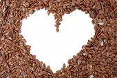 stock photo of flax seed  - Delicious and healthy flax seeds - JPG