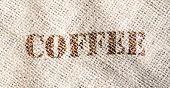 Постер, плакат: Текстура мешка кофе