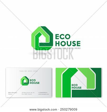 Eco House Logo Real Estate