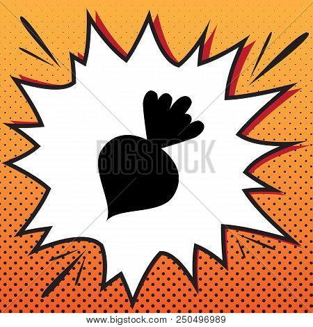 Beet Simple Sign Vector Comics
