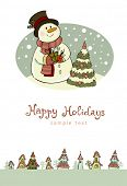 pic of seasons greetings  - Christmas greeting card - JPG