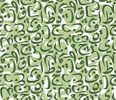 Seamless vector pattern made from symbols of Arabic calligraphy.