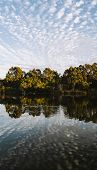 Beautiful Lake In Springfield Lakes In The Morning. poster