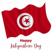 3 September, Independence Movement Day In Tunisia Background In National Flag Color Theme. Gabon Nat poster