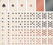 foto of playing card  - vector playing cards - JPG