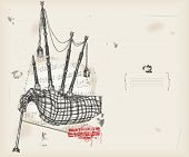 picture of bagpiper  - Bagpipe  drawing - JPG