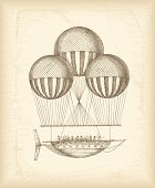 Vintage balloon sketch